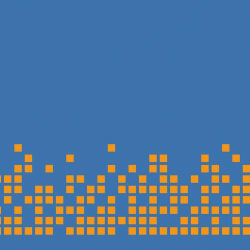 Pixel orange blå
